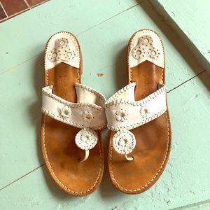 Jack Rogers vintage white Navajo sandals